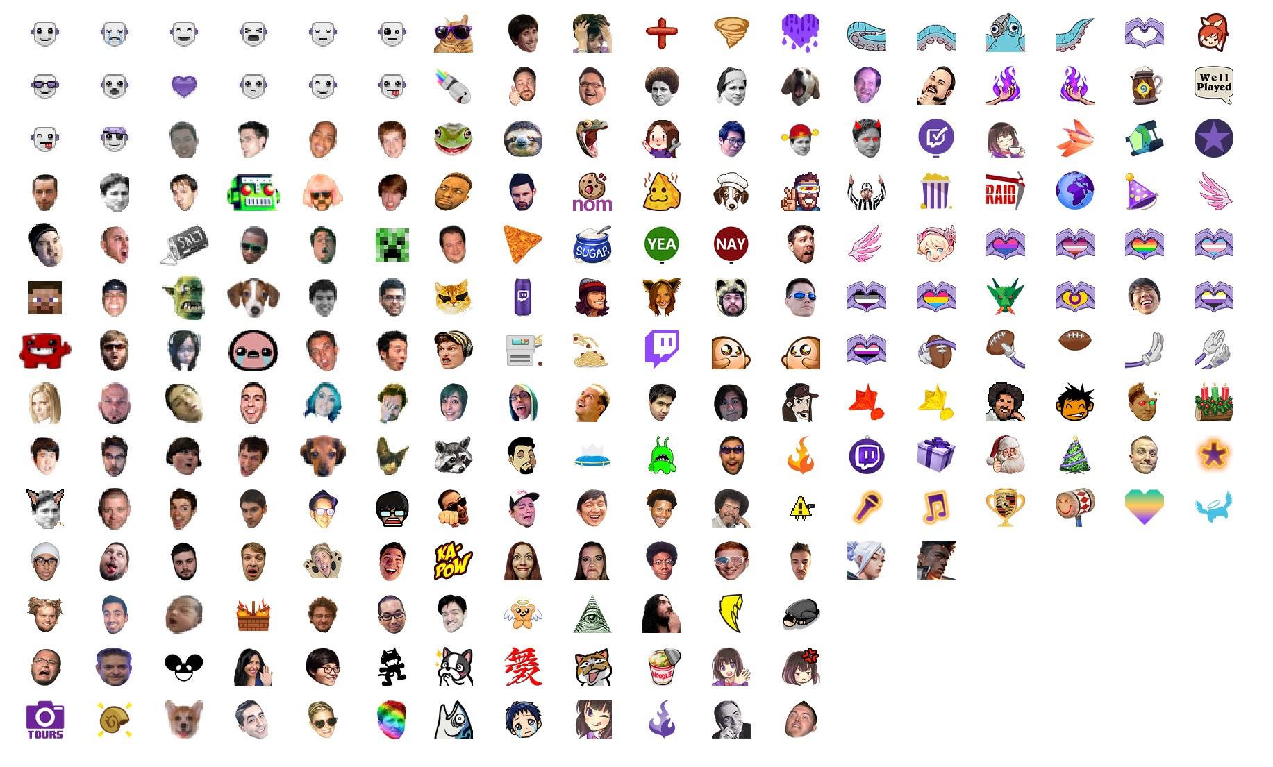 twitch global emotes list emojik